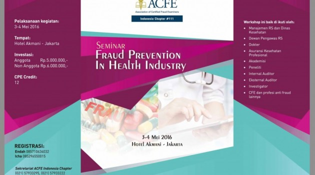 Seminar Fraud Prevention In Health Industry