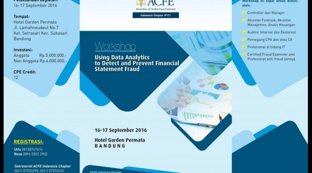 "Workshop ""Using Data Analytics to Detect and Prevent Financial Statment Fraud"""