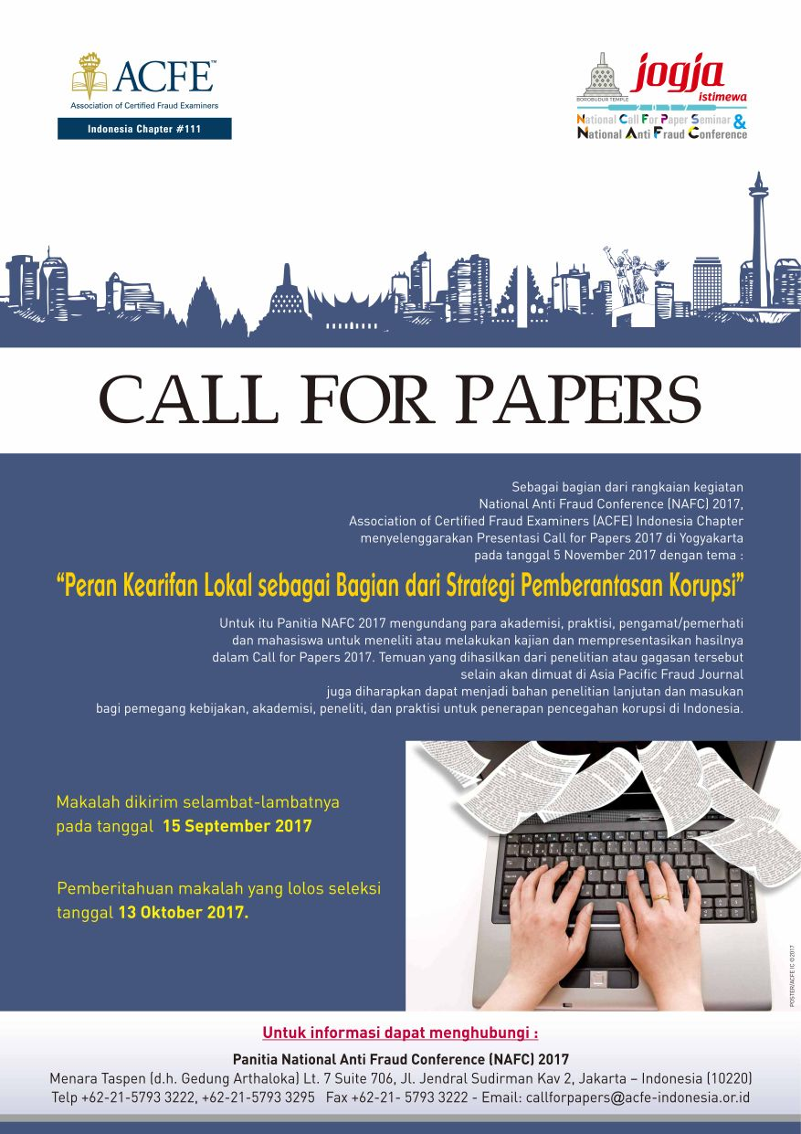 Call For Papers Amp National Anti Fraud Conference 2017