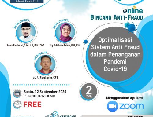 Optimalisasi Sistem Anti Fraud dalam Penanganan Pandemi Covid-19