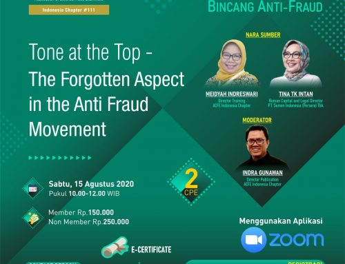 Tone At the Top – The Forgotten Aspect int the Anti Fraud Movement