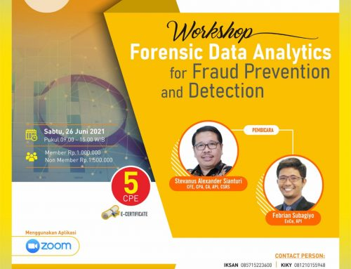 Workshop Forensic Data Analytics for Fraud Prevention and Detection